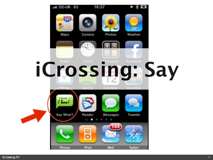 iCrossing: Say                     37