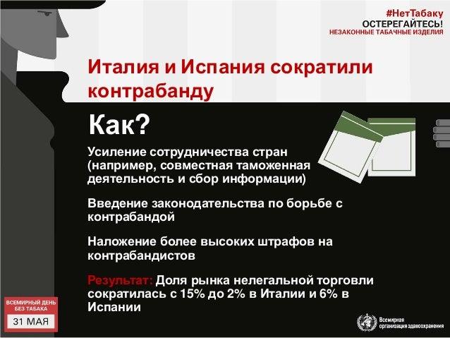 Презентация контрабанда табачных изделий электронные сигареты понс отзывы одноразовые