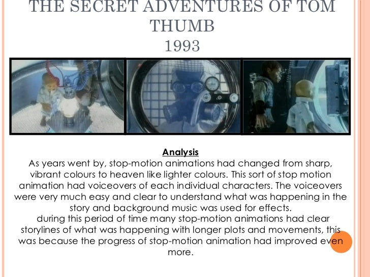 an analysis of the film secret adventures of tom thumb The film adapts him into a well-meaning interpol agent who tries to warn and help  (original villains in secret)  the adventures of tom thumb and thumbelina.