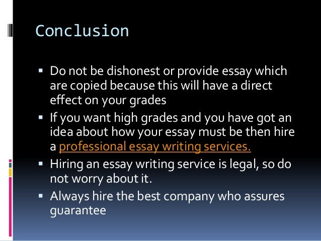stop academic dishonesty  6 conclusion  do not be dishonest or provide essay