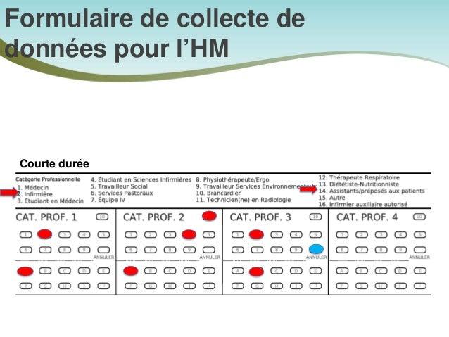 Formulaire de collecte de données pour l'HM Une fois par prestataire