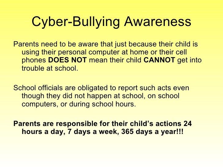 Stop Cyberbullying Parent Presentation