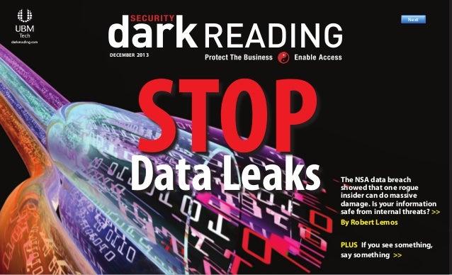 Next >>  R Previous  Next  darkreading.com  Previous  Next  Previous  Next  DECEMBER 2013  STOP Data Leaks  Previous  Next...