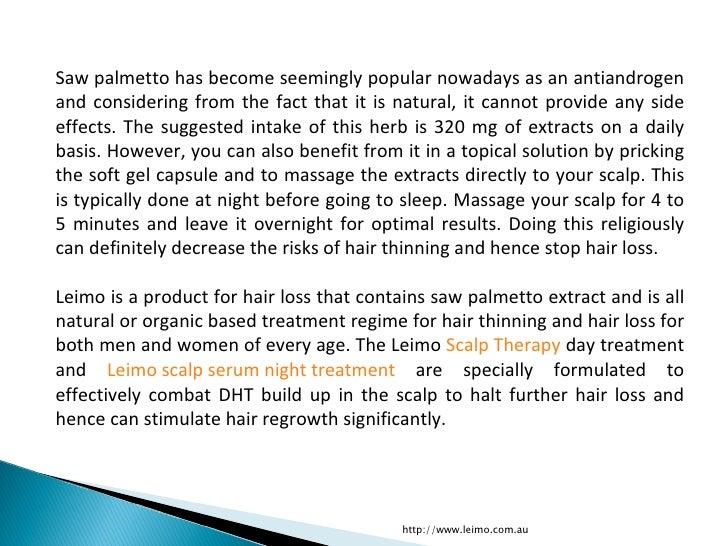 saw palmetto decrease testosterone