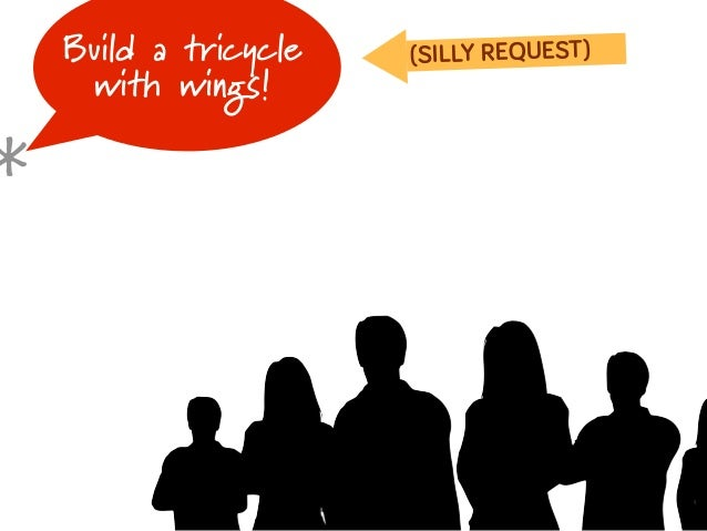 Build a tricycle   (SILLY REQUEST)     with wings!*