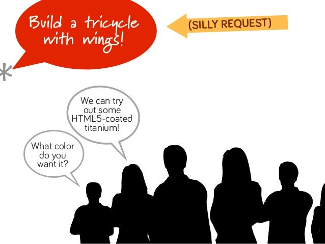 Build a tricycle        (SILLY REQUEST)     with wings!*    B    B    What color     do you     want it?              We c...