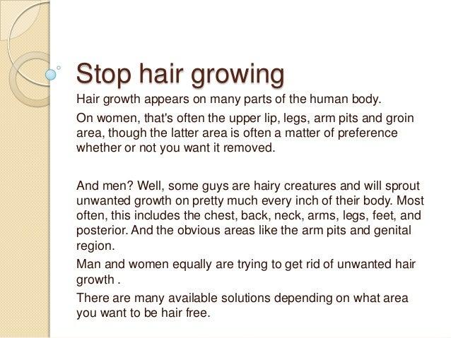 Stop Hair Growing