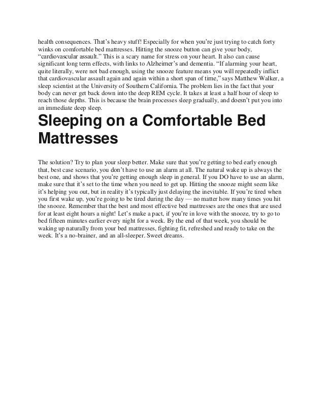 Stop hitting the snooze button to get better sleep value Slide 2