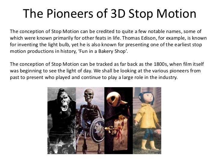 Stop motion animation techniques