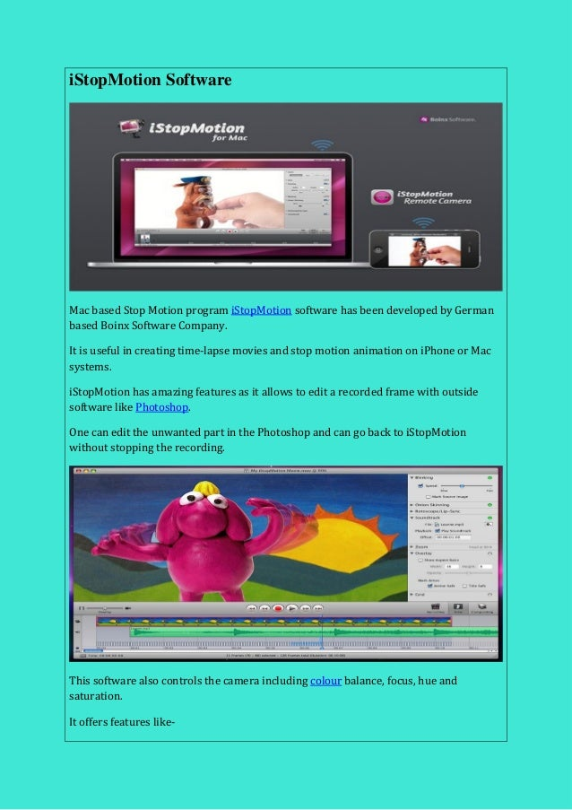 COOL STOP MOTION SOFTWARE