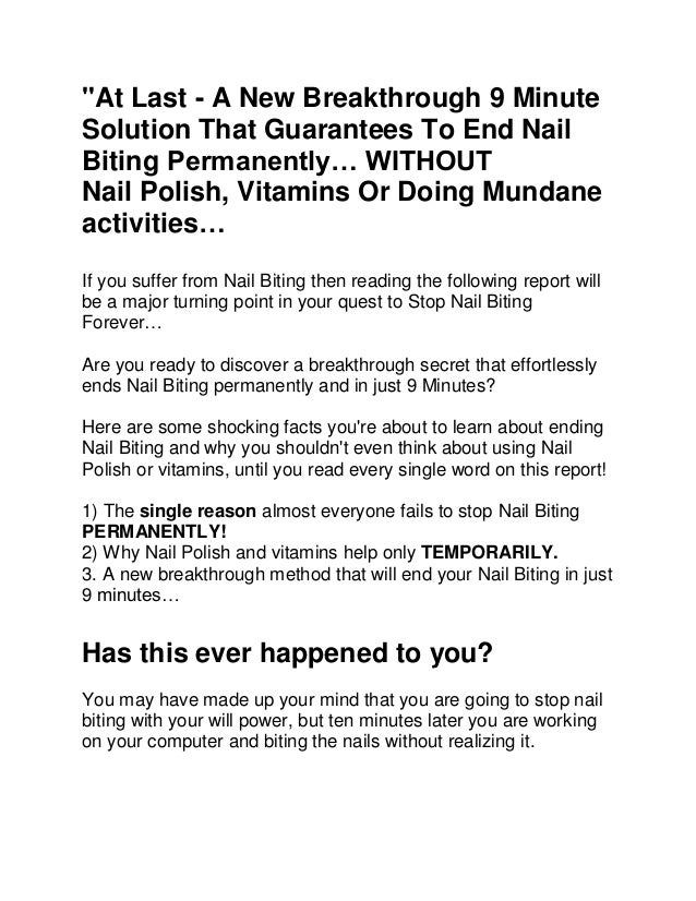 how to stop biting your nails in 9 minutes