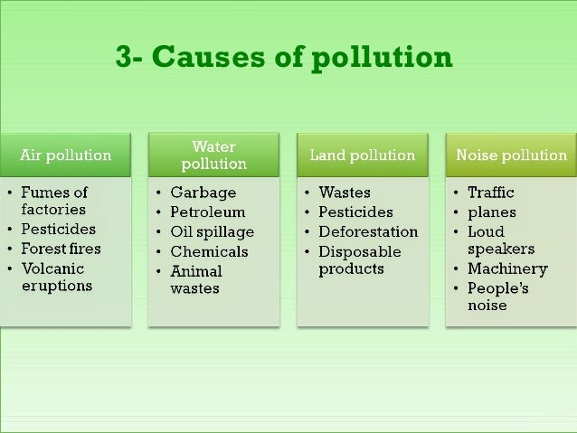 pollution types essay