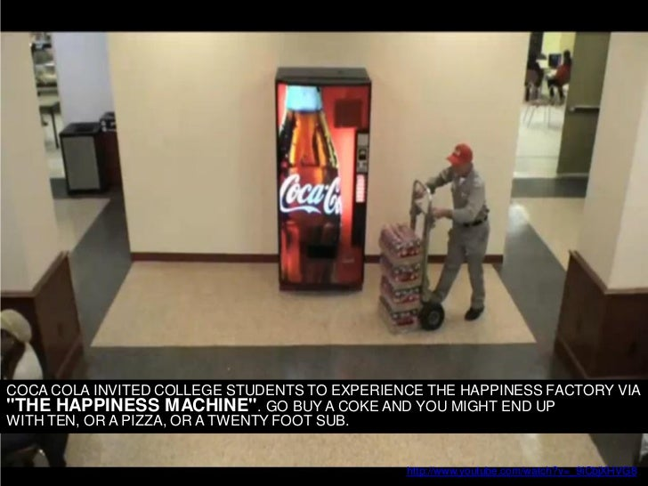 """Coca cola college     COCA COLA INVITED COLLEGE STUDENTS TO EXPERIENCE THE HAPPINESS FACTORY VIA """"THE HAPPINESS MACHINE"""". ..."""