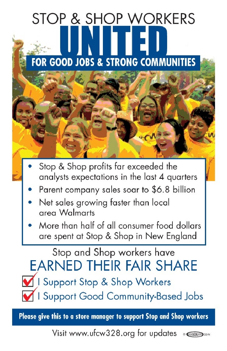 Support Stop & Shop Workers
