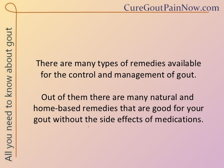 Natural Remedies To Control Gout