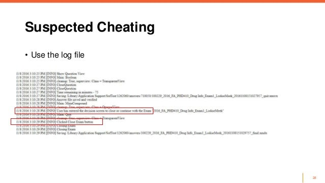 Stop the cheating! best practices to minimize security risks