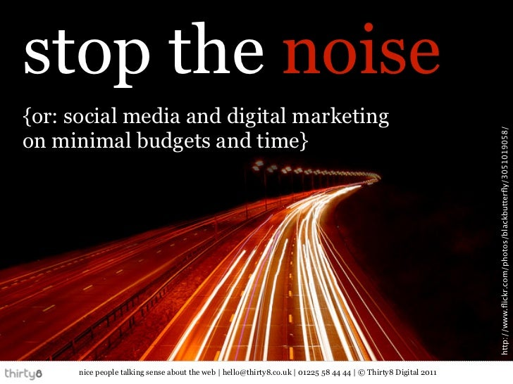 stop the noise{or: social media and digital marketing                                                                     ...