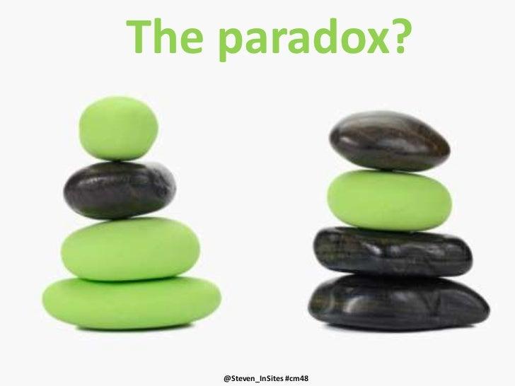 The paradox?<br />40%<br />negative<br />7%<br />negative<br />@Steven_InSites #cm48<br />@Steven_InSites #cm48<br />