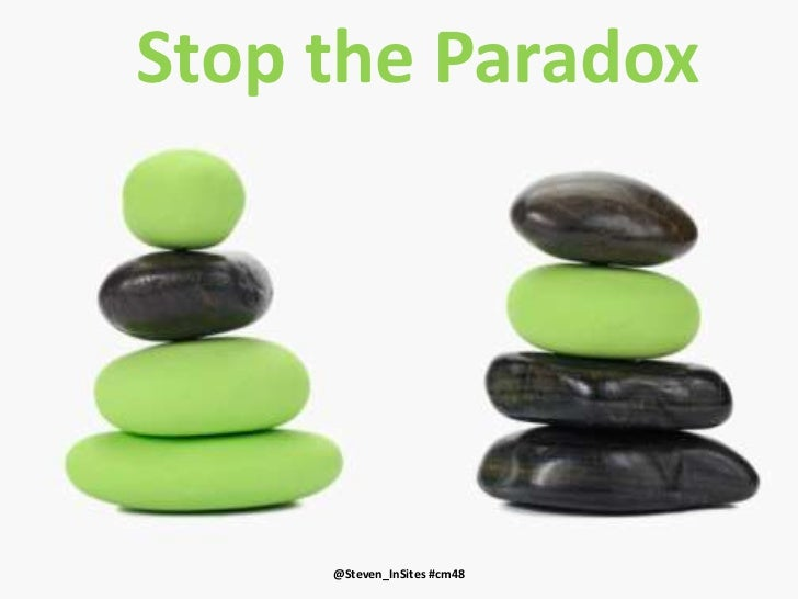 Stop the Paradox<br />@Steven_InSites<br />Stop the Paradox<br />by Steven Van Belleghem<br />#CM48<br />@Steven_InSites #...