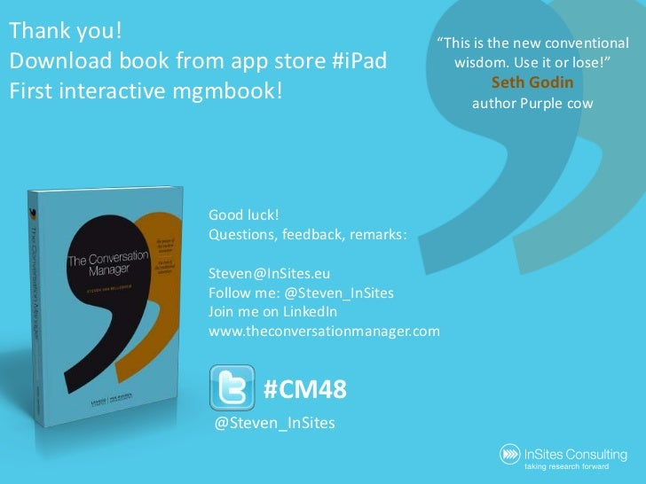 """Thank you!Download bookfromapp store #iPadFirst interactivemgmbook!<br />""""This is the new conventional wisdom. Use it or l..."""
