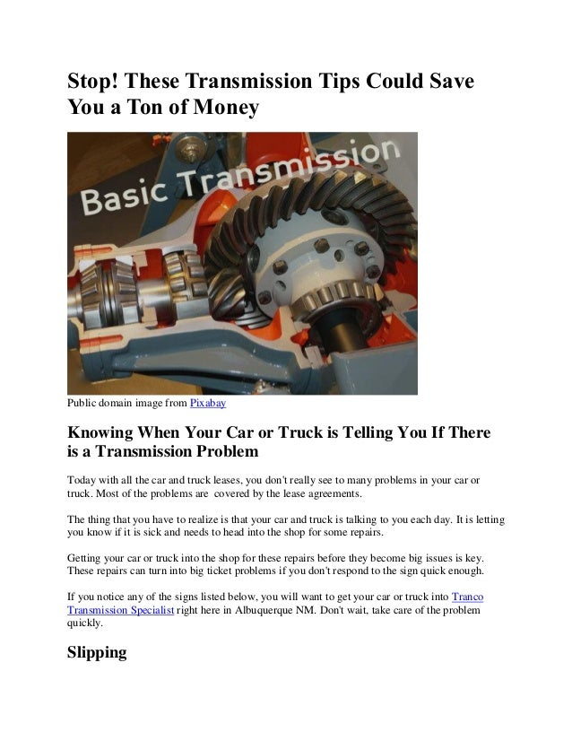 Signs Of Transmission Going Out >> Stop These Transmission Tips Could Save You A Ton Of Money