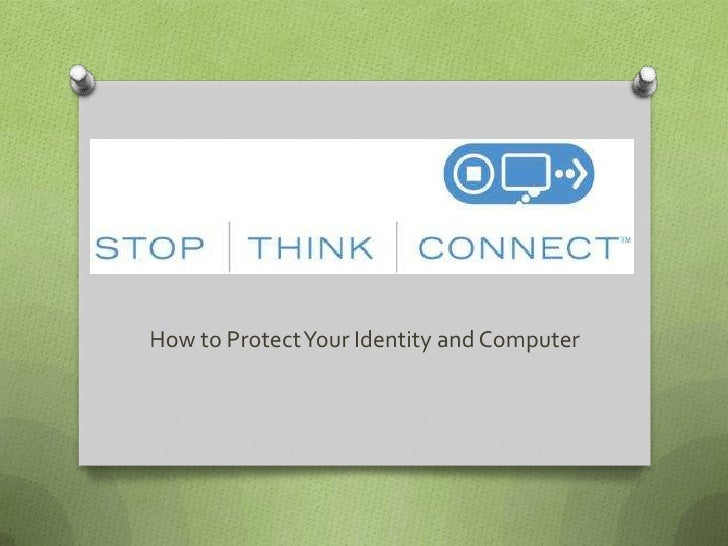 How to Protect Your Identity and Computer