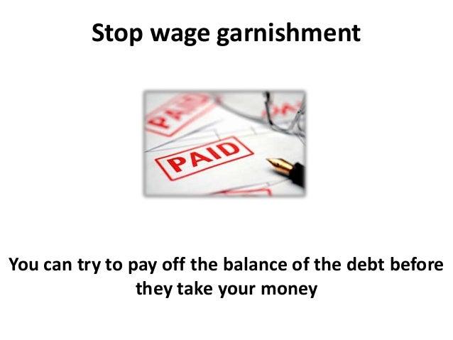 Stop wage garnishment and Credit Repair
