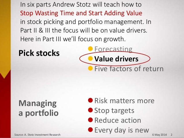 Value Drivers: Growth - Stop Wasting Time, Start Adding Value, Part II Slide 2