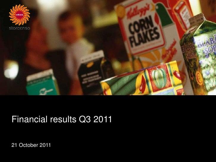 Financial results Q3 201121 October 2011