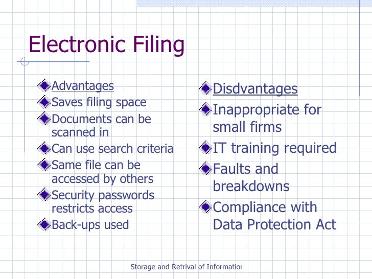 Electronic Filing Systems Examples How To Organize Your