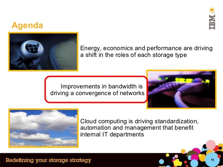Agenda Cloud computing is driving standardization, automation and management that benefit internal IT departments Improvem...