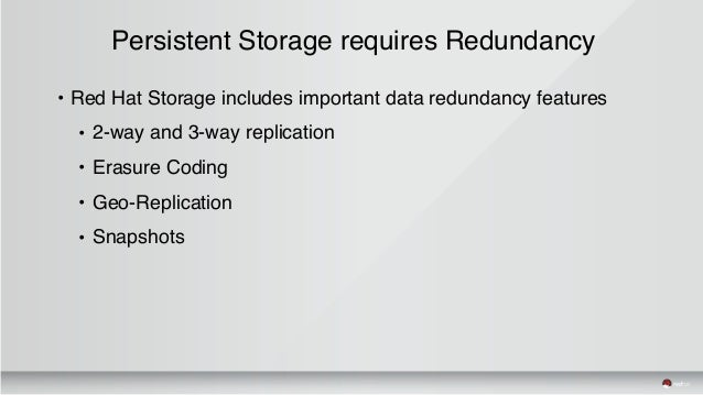 Red Hat Storage Day Atlanta Persistent Storage For Linux