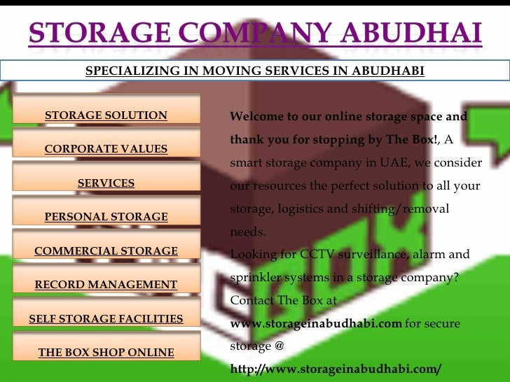 Welcome to our online storage space and thank you for stopping by The Box! , A  smart storage company  in UAE, we consider...
