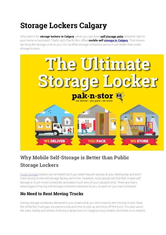 Storage Lockers Calgary