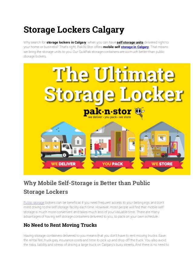 Storage Lockers Calgary Why search for storage lockers in Calgary when you can have self ...  sc 1 st  SlideShare & Storage Lockers Calgary