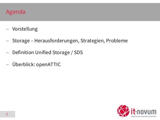 Flexibles Storage Management unter Linux mit OpenATTIC - Kielux 2015-09-18 Slide 2