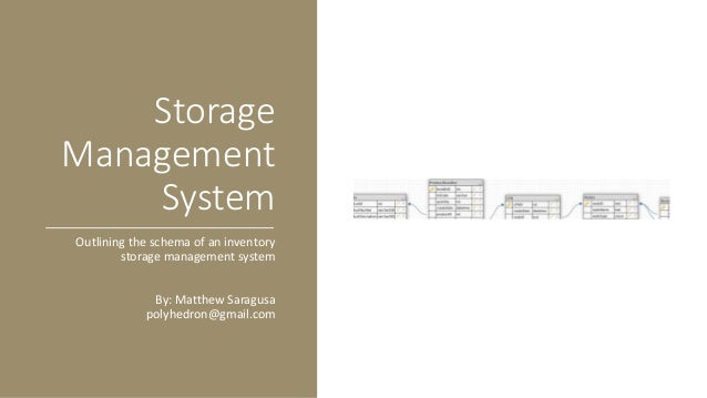 Warehouse Storage Managment System Database Schema