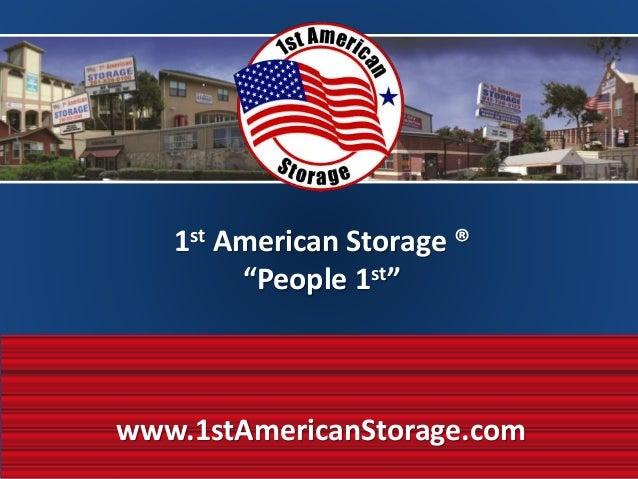 1st American Storage ...