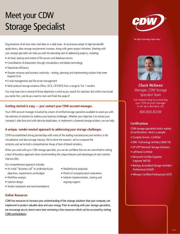Meet your CDWStorage Specialist                                                                                           ...