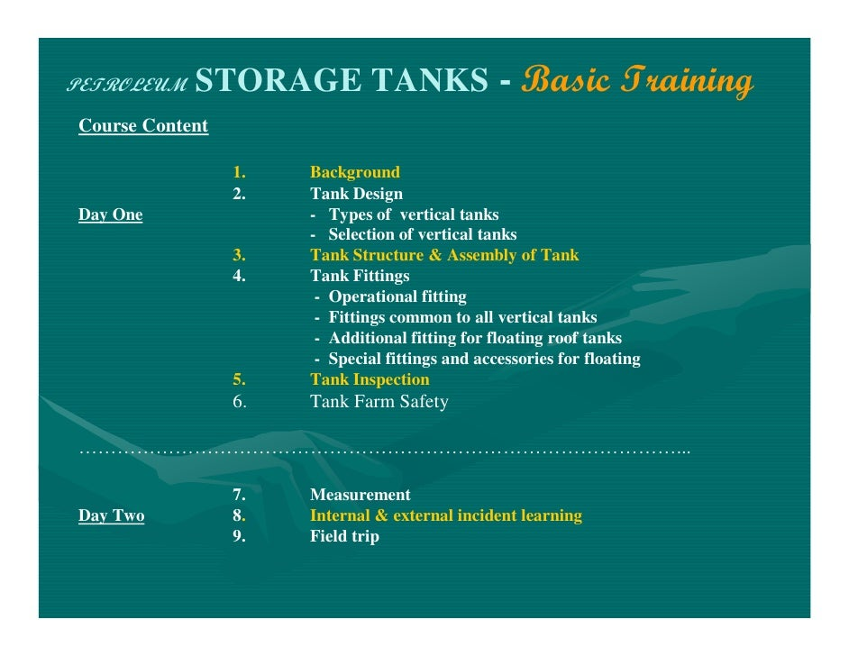 Storage Tanks Basic Training Rev 2