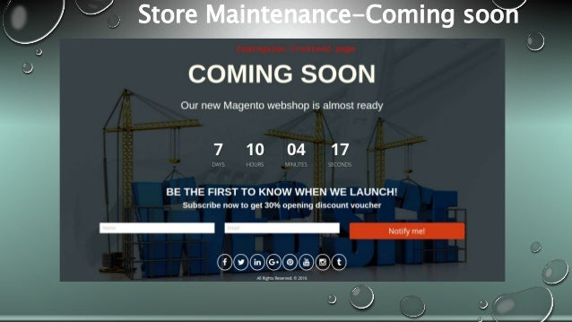 Store Maintenance-Coming soon