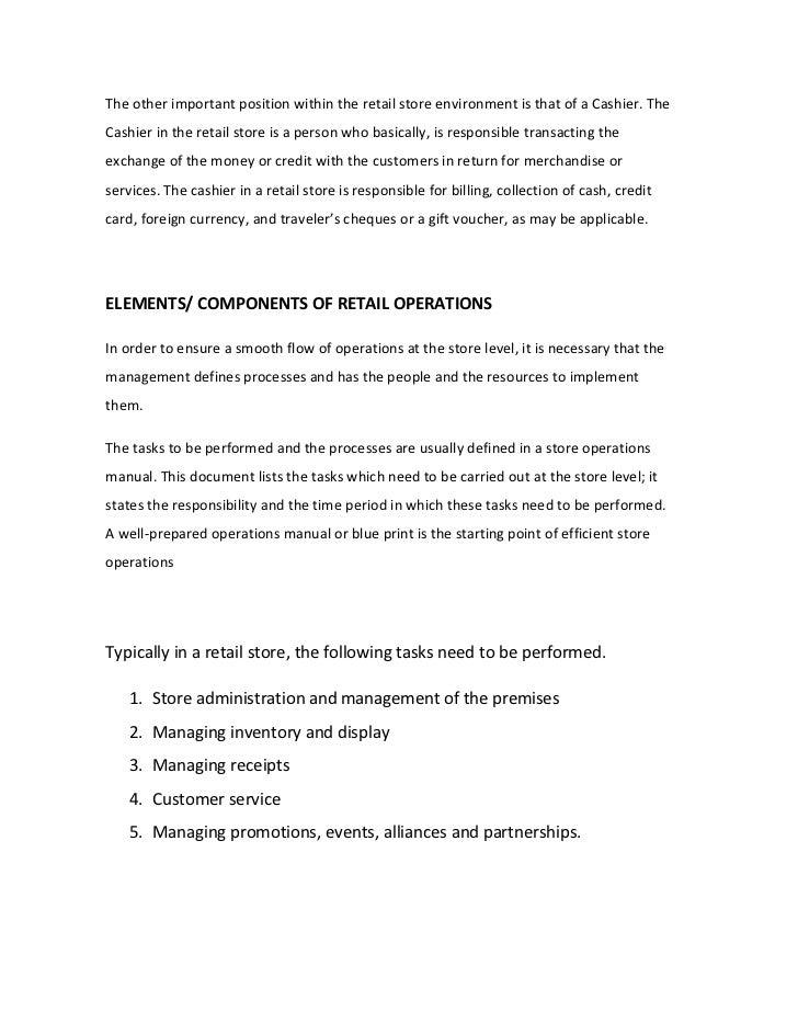 store operations rh slideshare net retail shop operations manual example Operations Manual Template