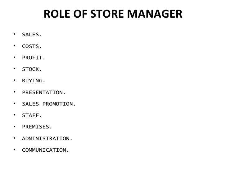 Store administration