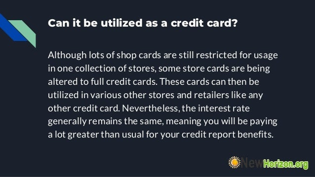 Store Credit Cards A Brief Guide