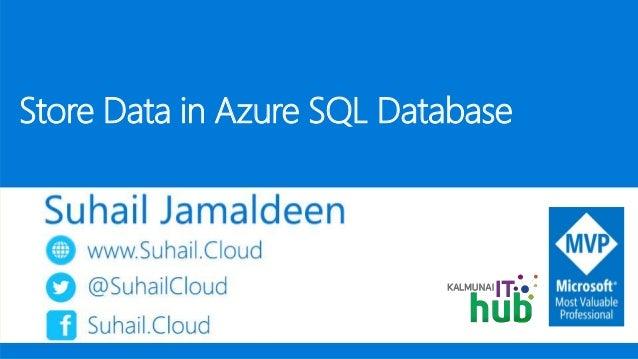 Store Data in Azure SQL Database