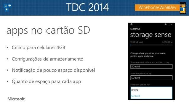 • Crítico para celulares 4GB • Configurações de armazenamento • Notificação de pouco espaço disponível • Quanto de espaço ...
