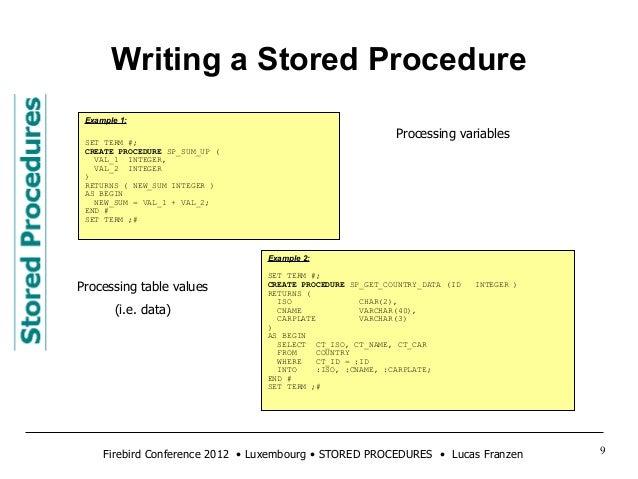 Create a Stored Procedure