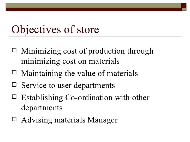 stores management An enterprise's success can be greatly affected by the efficiency of its stores operations efficient stores management can save money, help retain customers and maintain continuous operations but stores mismanagement can lose an enterprise money, customers and production a stores manager must be able to manage.