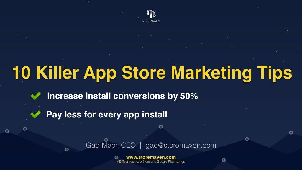 10 Killer App Store Marketing Tips