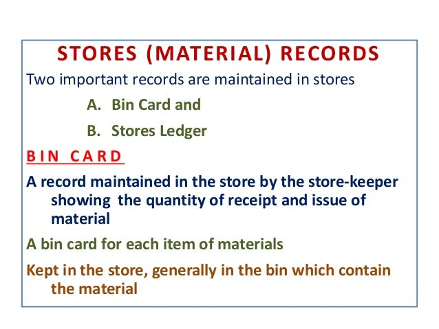 store bin card